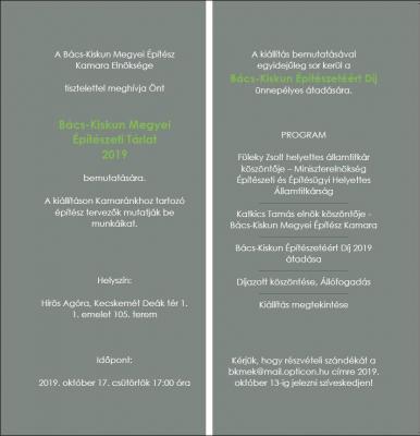 Kiállítás és díjátadó az Építészet hónapja keretében