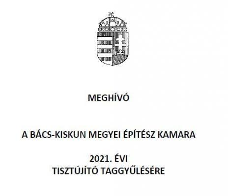 TISZTÚJÍTÓ TAGGYŰLÉS 2021